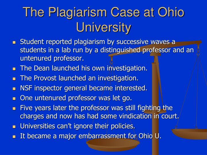 The Plagiarism Case at Ohio University