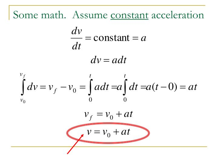 Some math.  Assume