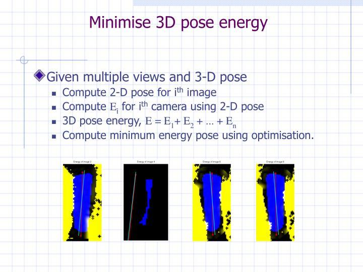 Minimise 3D pose energy