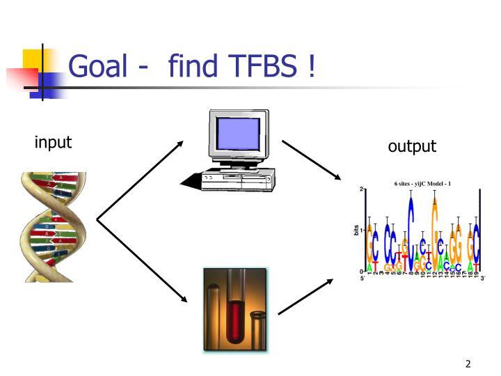 Goal -  find TFBS !