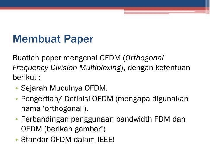 Membuat Paper
