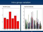intra group variation