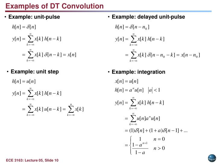 Examples of DT Convolution