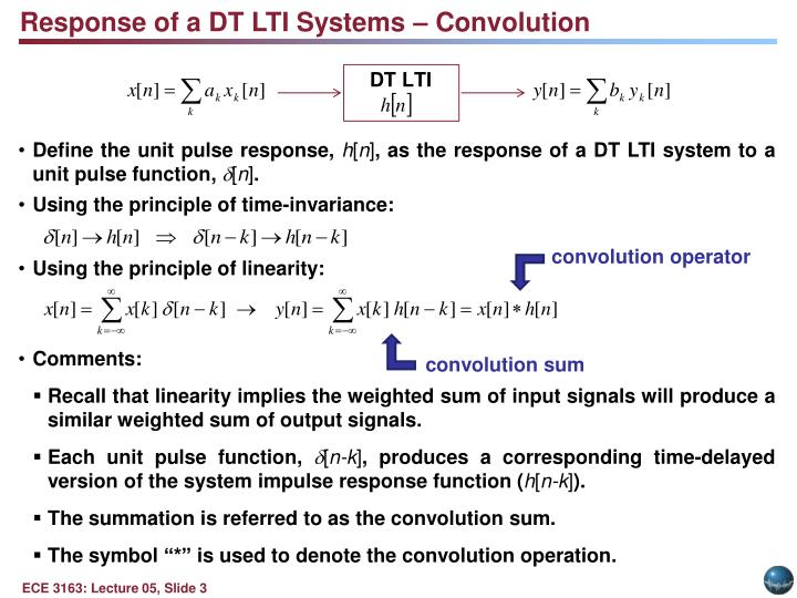 Response of a DT LTI Systems – Convolution