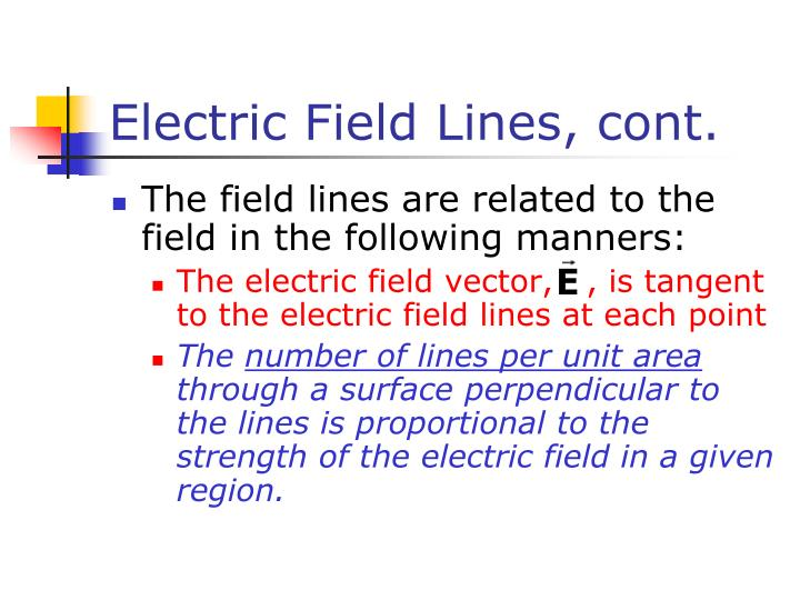 Electric field lines cont