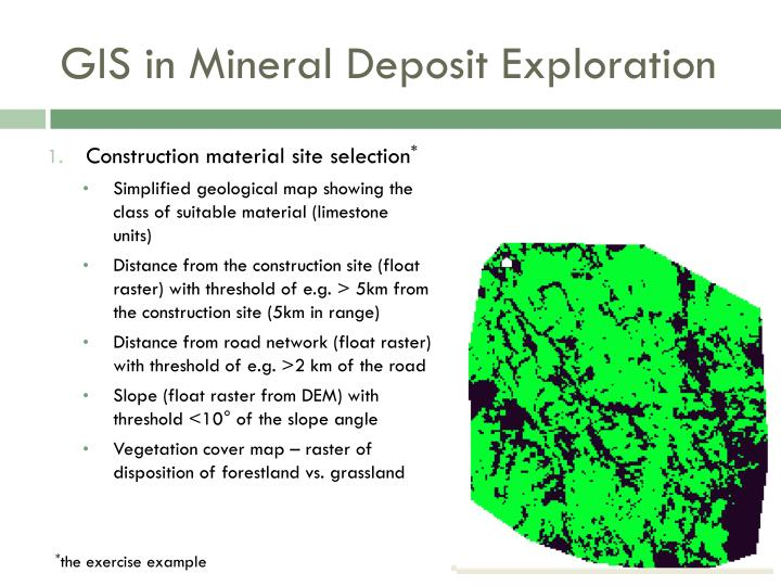 GIS in Mineral Deposit Exploration