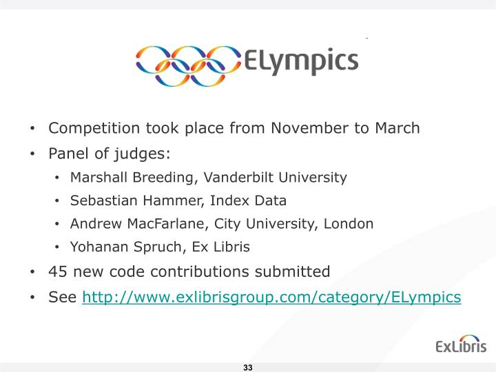 Competition took place from November to March