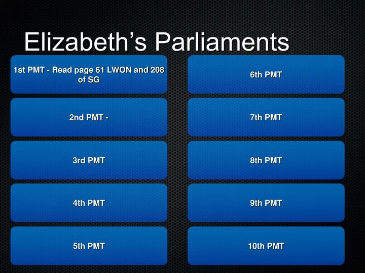 Elizabeth's Parliaments