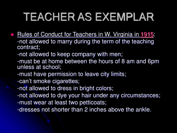 TEACHER AS EXEMPLAR