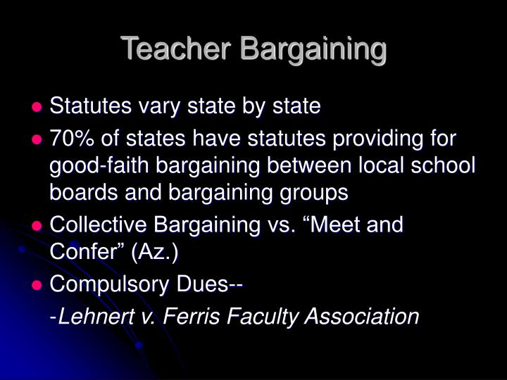 Teacher Bargaining