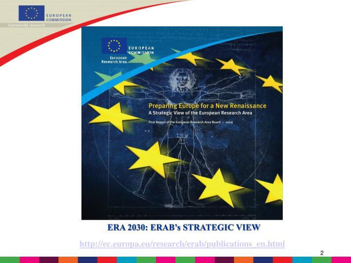 ERA 2030: ERAB's STRATEGIC VIEW