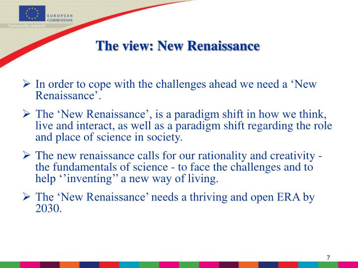 The view: New Renaissance