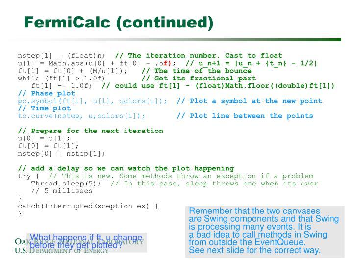 FermiCalc (continued)