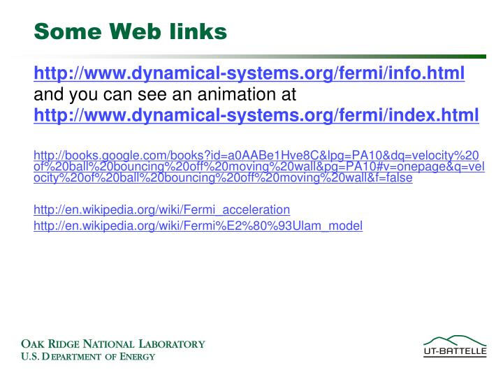 Some web links