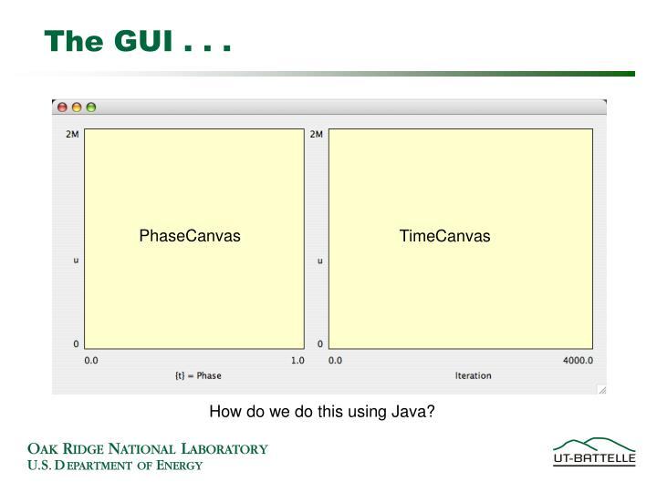 The GUI . . .