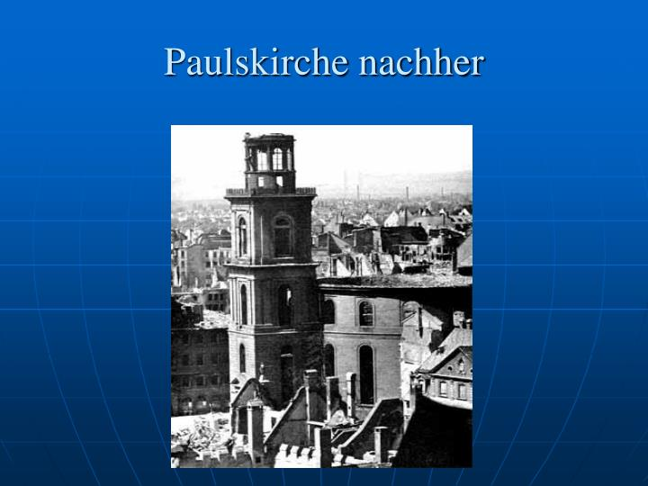 Paulskirche nachher