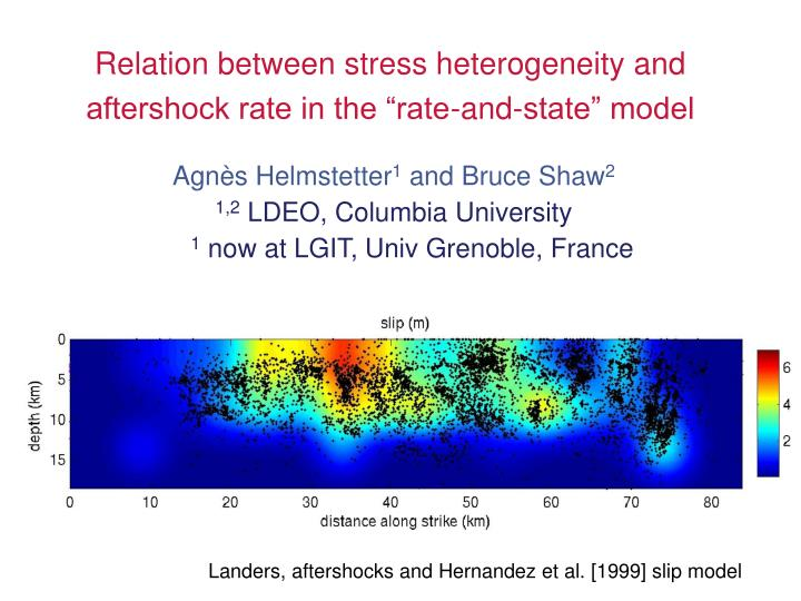 Relation between stress heterogeneity and aftershock rate in the rate and state model