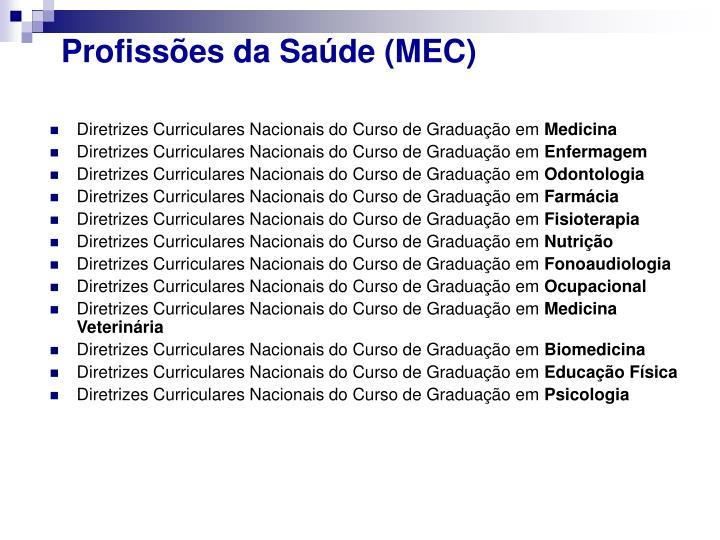 Profissões da Saúde (MEC)