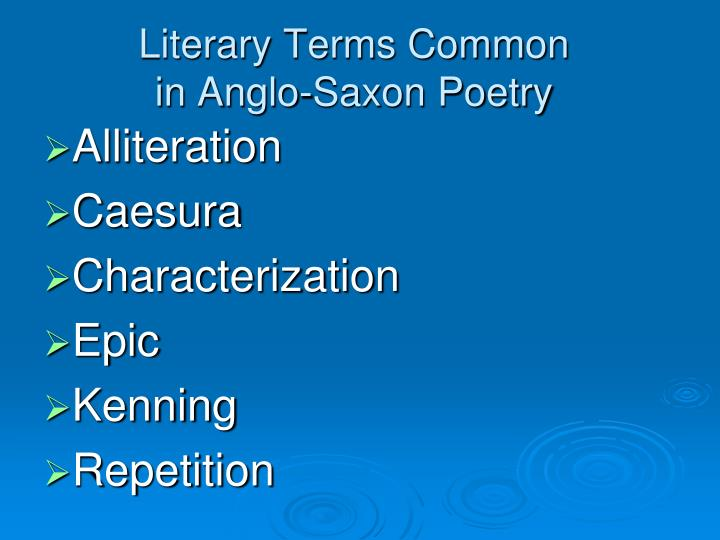 Literary Terms Common