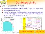 combined limits