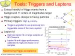 tools triggers and leptons