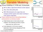 variable modeling