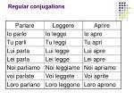 regular conjugations1