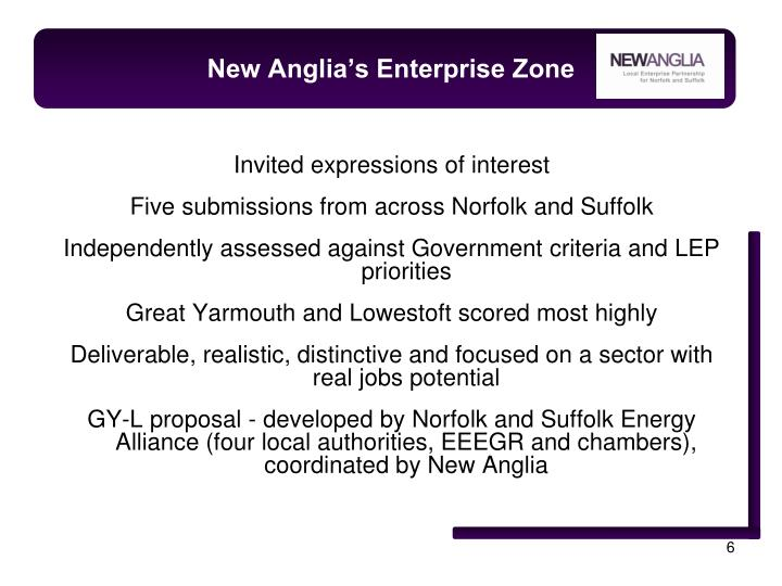 New Anglia's Enterprise Zone