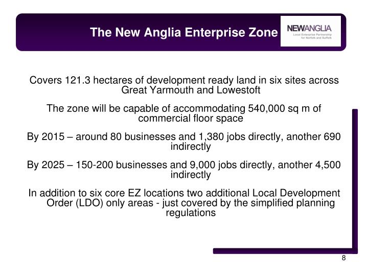 The New Anglia Enterprise Zone