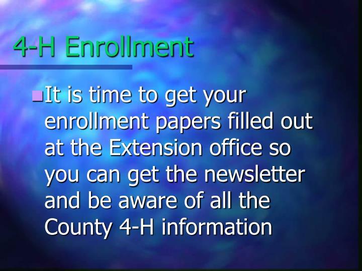 4-H Enrollment