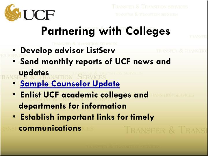 Partnering with Colleges