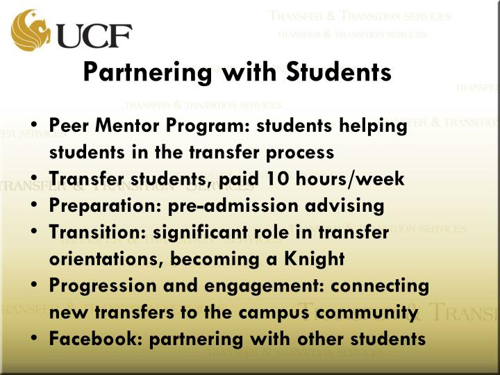 Partnering with Students