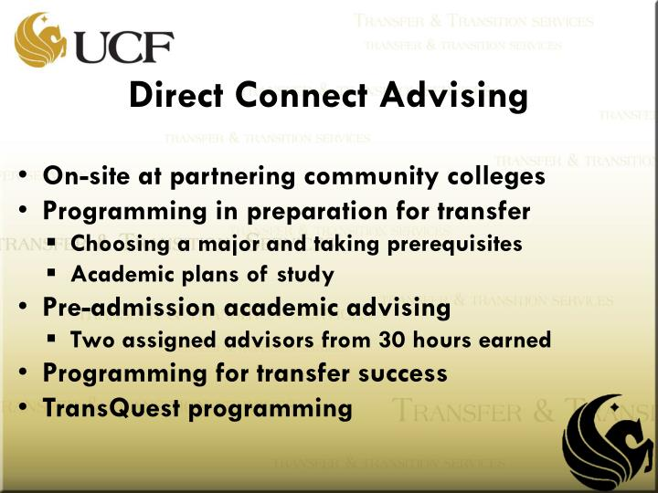 Direct Connect Advising