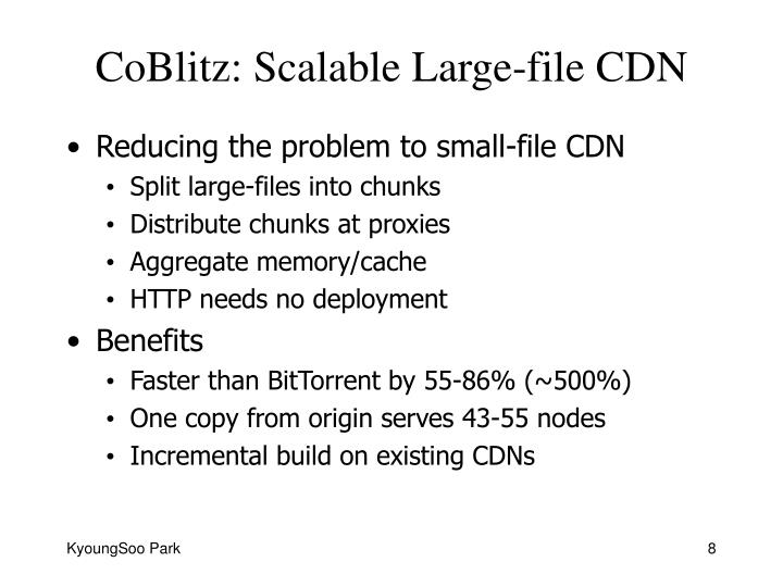 CoBlitz: Scalable