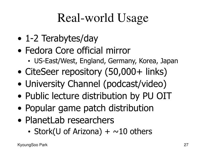 Real-world Usage