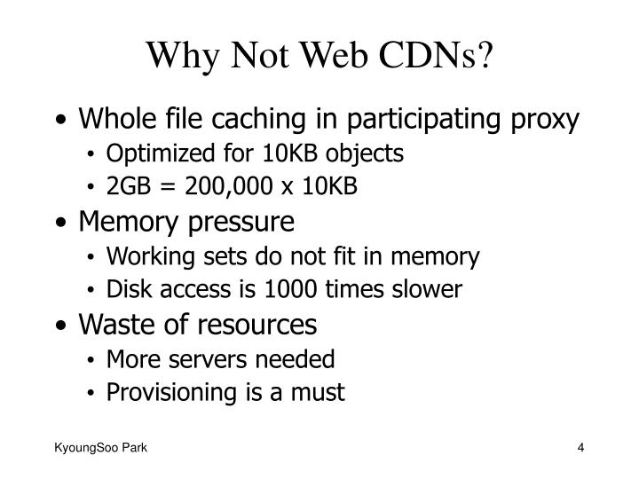Why Not Web CDNs?