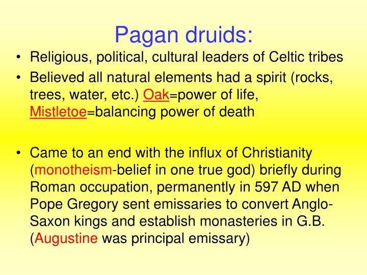 Pagan druids: