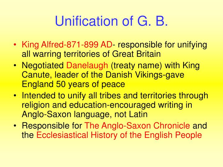 Unification of G. B.