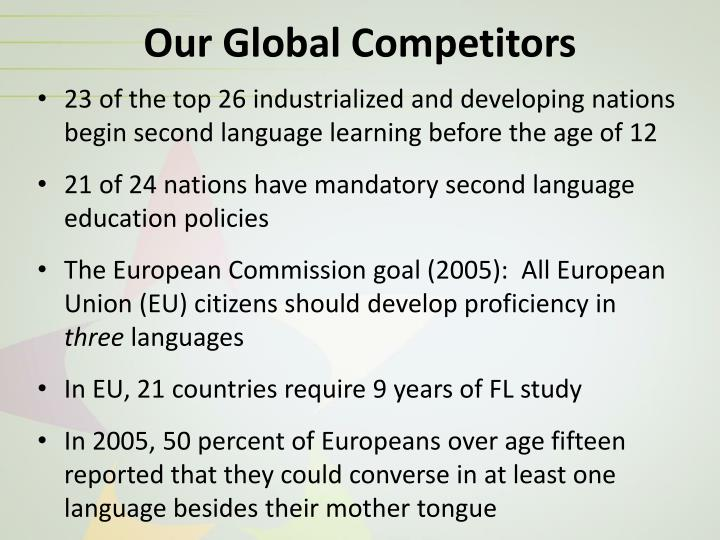 Our Global Competitors