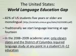 the united states world language education gap