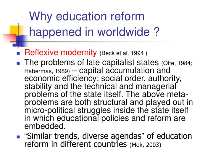 Why education reform
