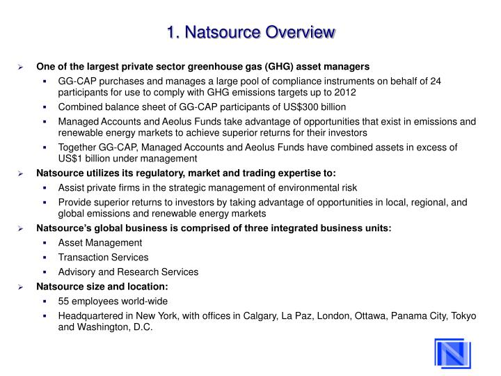 1. Natsource Overview