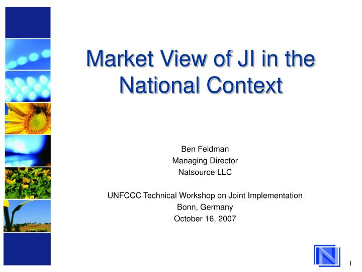 Market view of ji in the national context