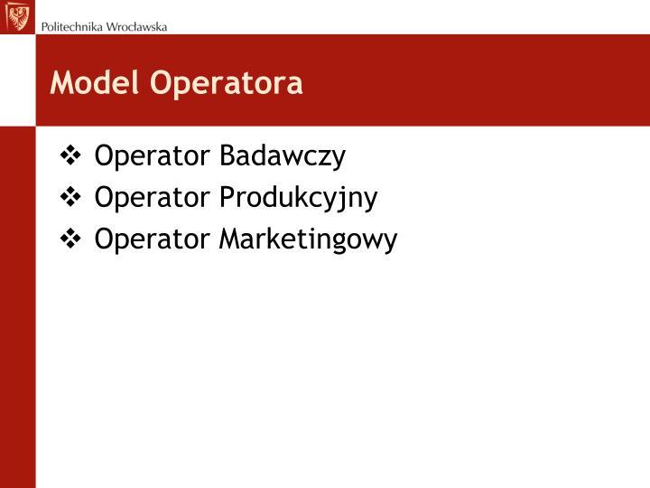 Model Operatora