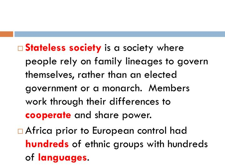 Stateless society