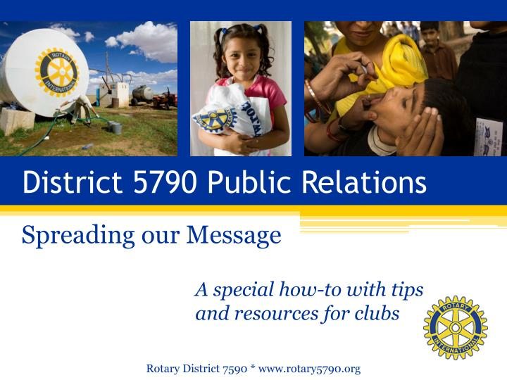 District 5790 public relations1