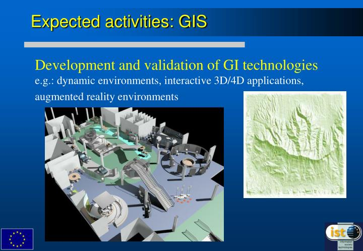 Expected activities gis