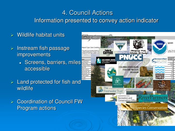 4. Council Actions