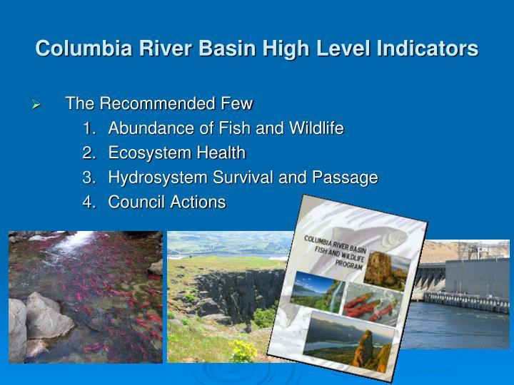 Columbia River Basin High Level Indicators