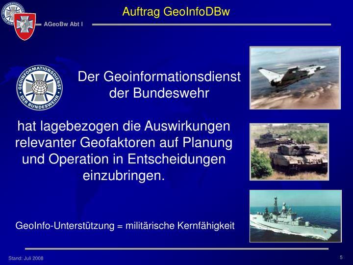 Auftrag GeoInfoDBw